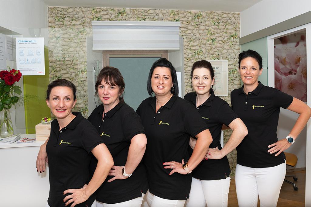 Podologie Pesa Institut podologische Fusspflege team